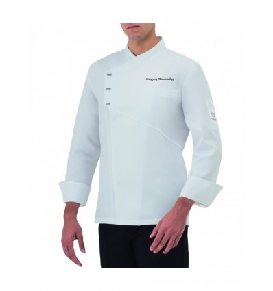 Μπλούζ Chef Λευκή με κέντημα το όνομα σας