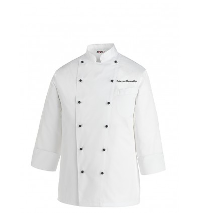 Shirts chef's White Ego Chef TOP embroider your name